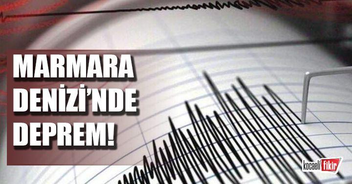 Marmara Denizi'nde 3.3 büyüklüğünde deprem!