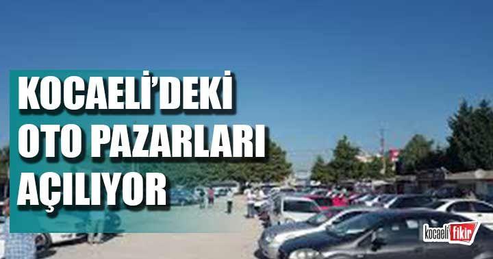 Kocaeli'de oto pazarları açılabilecek