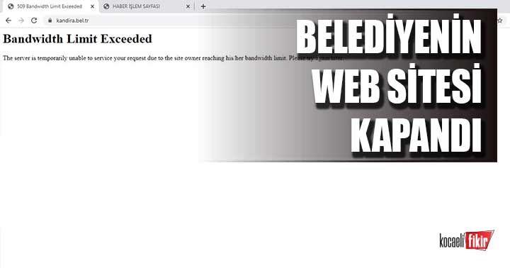 Belediyenin web sitesi kapandı