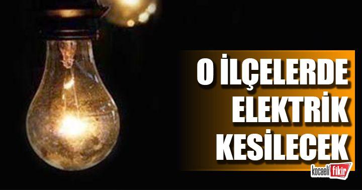 Kocaeli'de beş ilçede elektrik kesintisi olacak