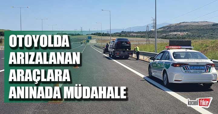 Kuzey Marmara Otoyolu'nda arızalanan araçlara anında müdahale