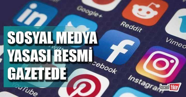 Sosyal Medya Yasası Resmi Gazetede
