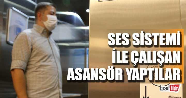 Ses komutu ile çalışan asansör  yaptılar