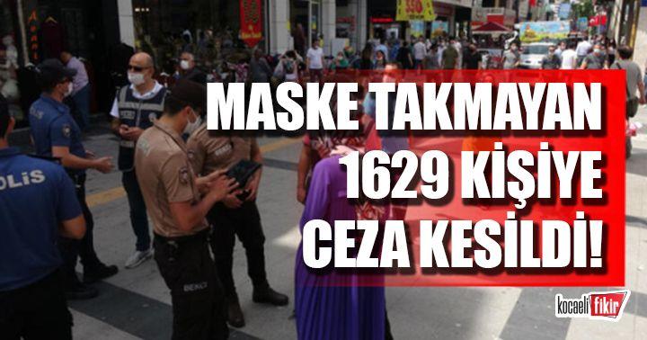 Kocaeli'de maske takma kuralını ihlal eden 1629 kişiye ceza kesildi!