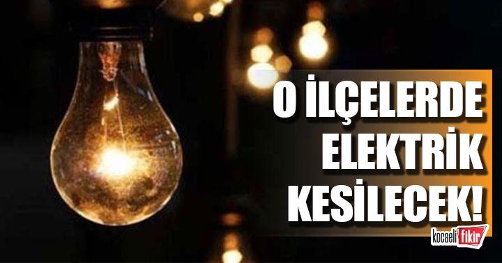 Yarın 2 ilçede elektrikler kesilecek!