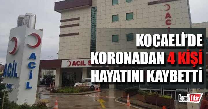 Kocaeli'de koronavirüsten 4 kişi vefat etti