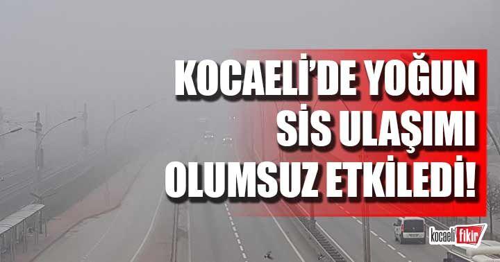 Kocaeli'de yoğun sis! Sürücüler zor anlar yaşadı