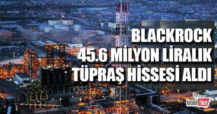 BlackRock 45.6 milyon liralık Tüpraş hissesi aldı! Payı yüzde 5'i aştı