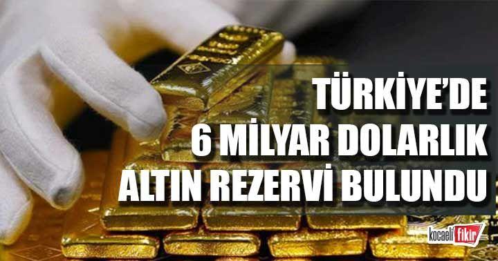 Türkiye'de 6 milyar dolarlık altın rezervi bulundu