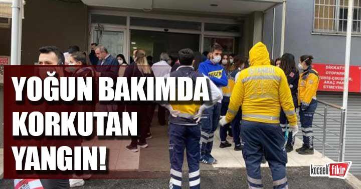 İstanbul'da özel bir hastanenin yoğun bakım servisinde yangın çıktı
