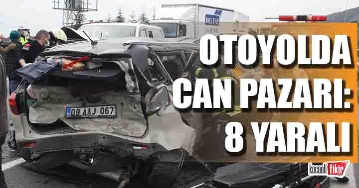 Erzincan Sağlık Müdürlüğü aracı Kocaeli'de kaza yaptı: 8 yaralı