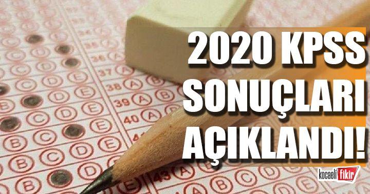 2020 KPSS-Ortaöğretim sonuçları açıklandı!