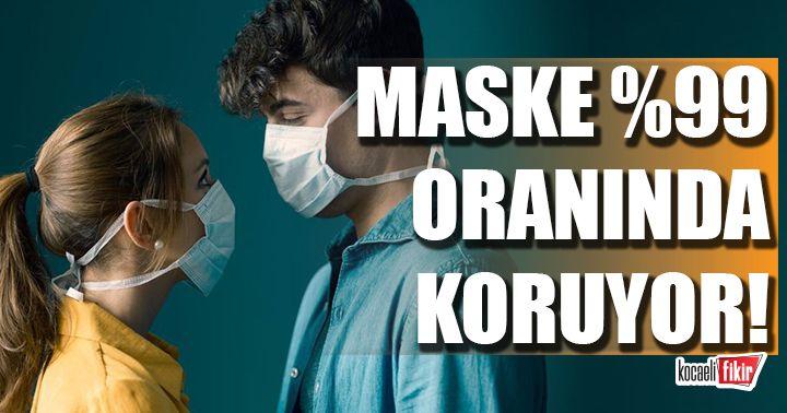 Maskenin corona virüsünden yüzde 99.9 oranında koruduğu kanıtlandı!