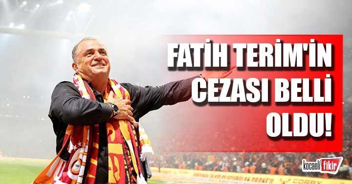 PFDK Fatih Terim'in cezasını açıkladı!