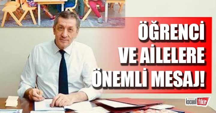 Milli Eğitim Bakanı Selçuk'tan Yüz yüze eğitim mesajı!