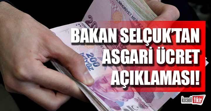 Bakan Selçuk'tan asgari ücret toplantısı açıklaması