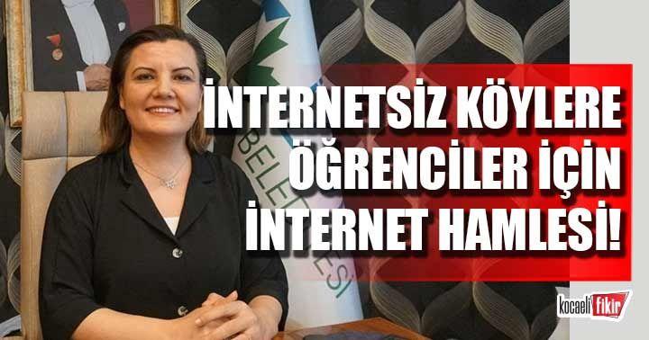 İzmit Belediyesinden internetsiz köylere öğrenciler için internet hamlesi