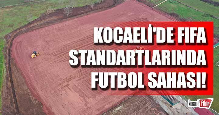 FIFA standartlarında futbol sahasında çalışmalar sürüyor