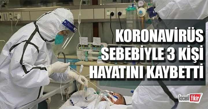 Koronavirüs Kocaeli'de 3 can aldı
