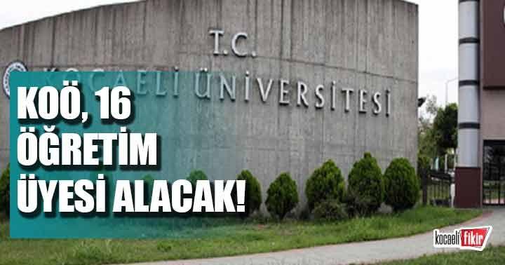 Kocaeli Üniversitesi öğretim üyesi alacak!