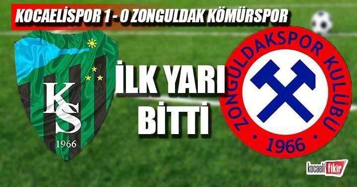 İlk yarı bitti! Kocaelispor 1 - 0 Zonguldak Kömürspor