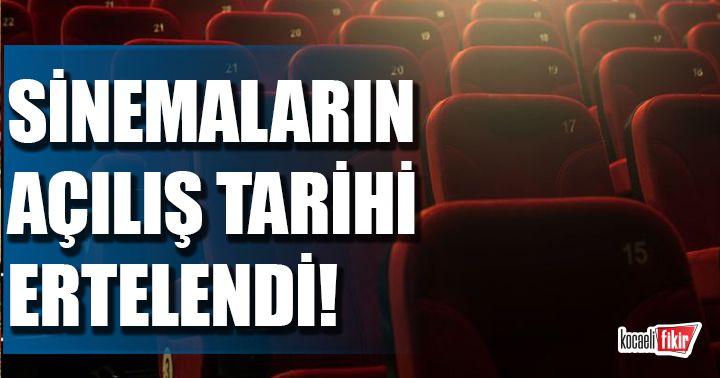 Sinemaların açılış tarihi ertelendi! Sinema salonları ne zaman açıklanacak?