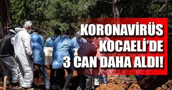 Koronavirüs Kocaeli'de 3 can daha aldı!