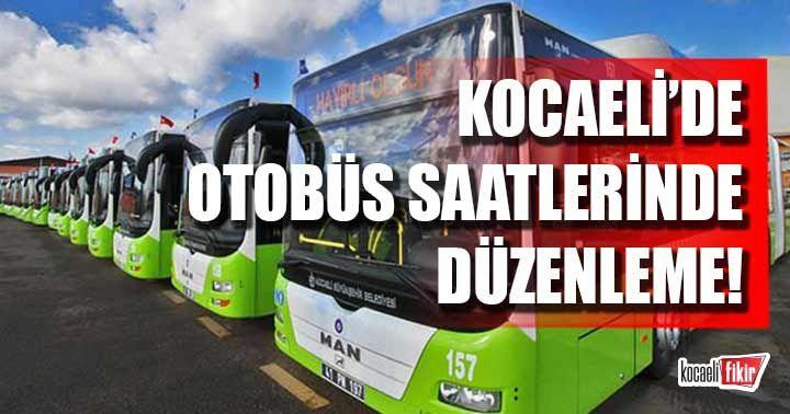 Kocaeli'de kısıtlama günlerinde bu otobüs hatları çalışacak