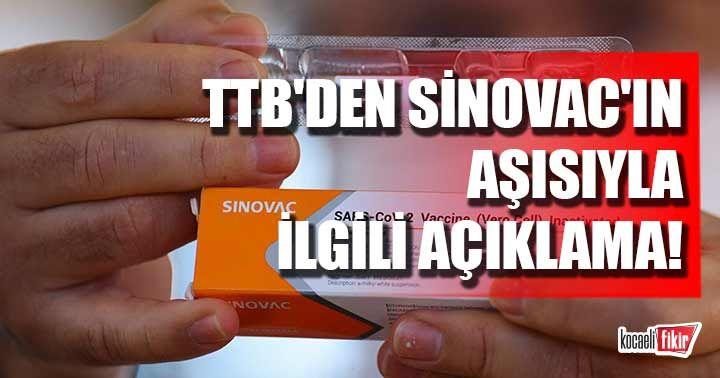 Türk Tabipleri Birliği'nden Sinovac'ın aşısıyla ilgili açıklama