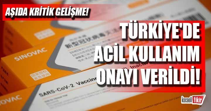 Türkiye'de Çin aşısına acil kullanım onayı verildi!