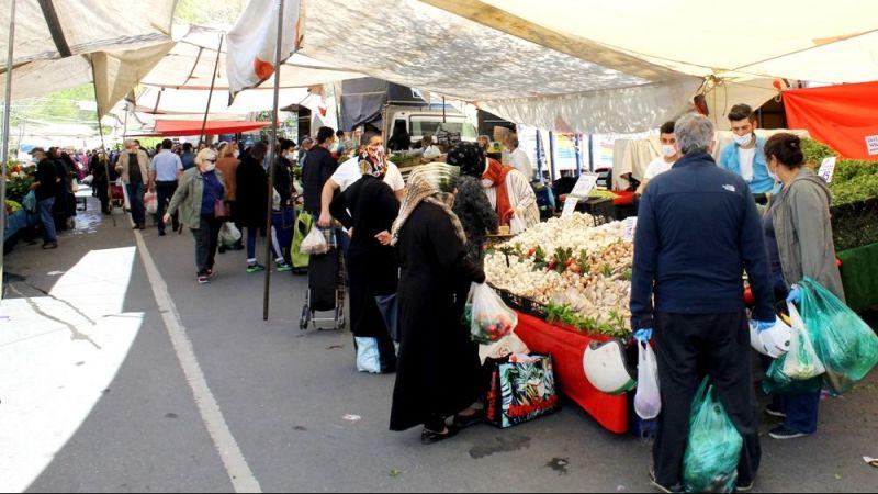 1 hafta kapalı kalan semt pazarları vatandaşların akınına uğradı