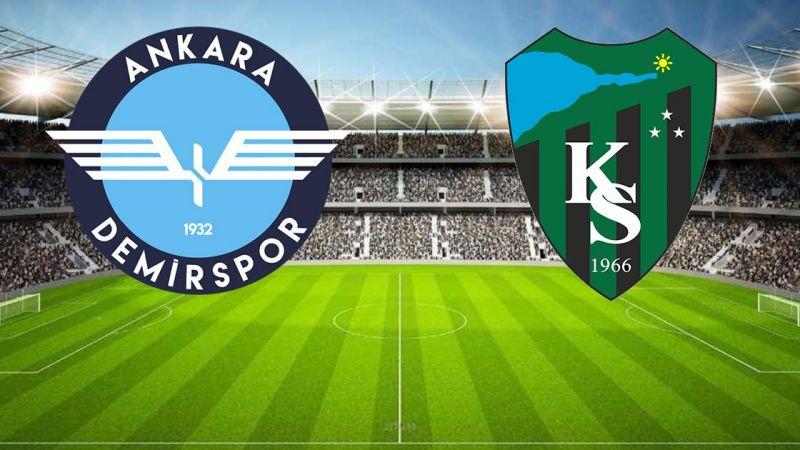 Kocaelispor Ankara Demirspor maçı