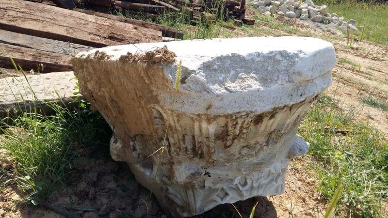 Millet Bahçesi inşaatında tarihi mermer sütun başı bulundu