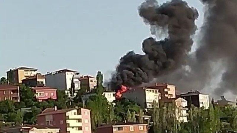 Gebze'de müstakil ev alev alev yandı
