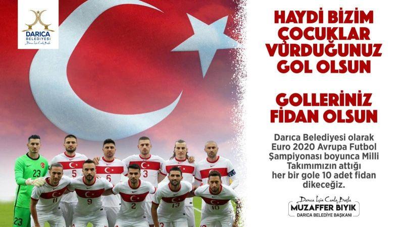 A Milli Futbol Takımı'nın atacağı her gol Kocaeli'de fidan olacak!