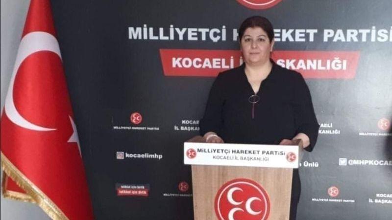 MHP İl Kadın Kolları başkanı istifa etti