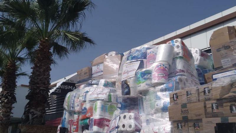İzmit Belediyesinin yardım TIR'ı Manavgat'a ulaştı