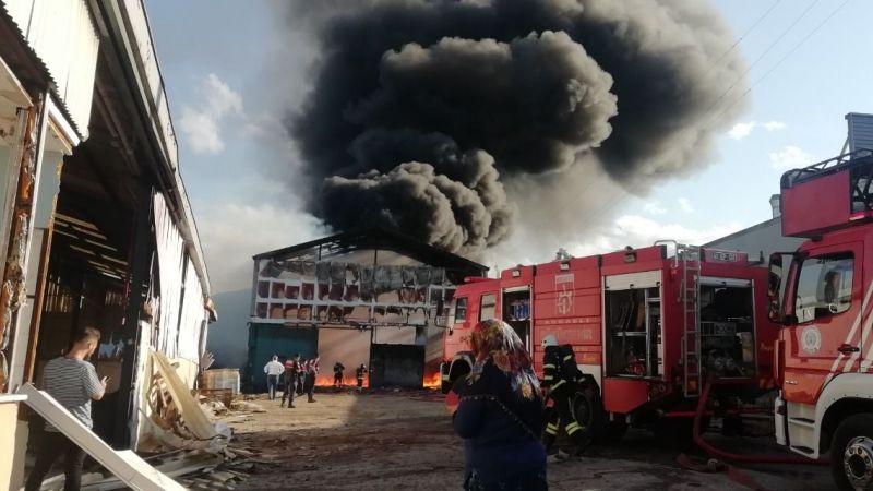 Parke fabrikasında çıkan yangın kontrol altına alındı