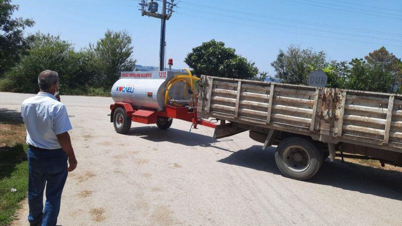 Kırsal mahallelere su tankeri desteği yapıldı