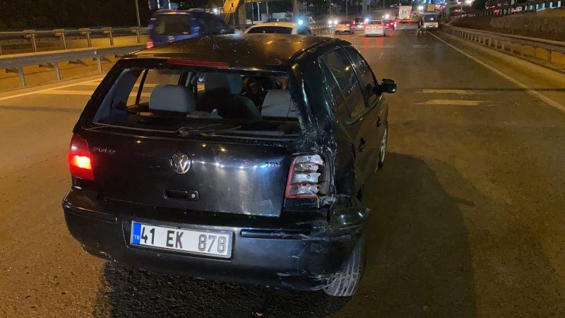 D-100 'de otomobil ile çarpışan motosikletli kurye ağır yaralandı