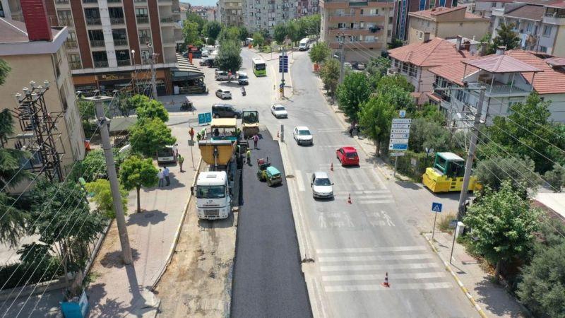 Darıca Tuzla Caddesi'nde üstyapı çalışması
