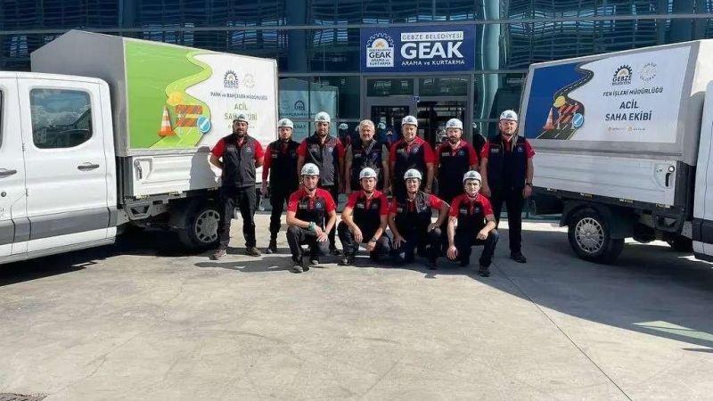 GEAK ekipleri sel bölgesinde