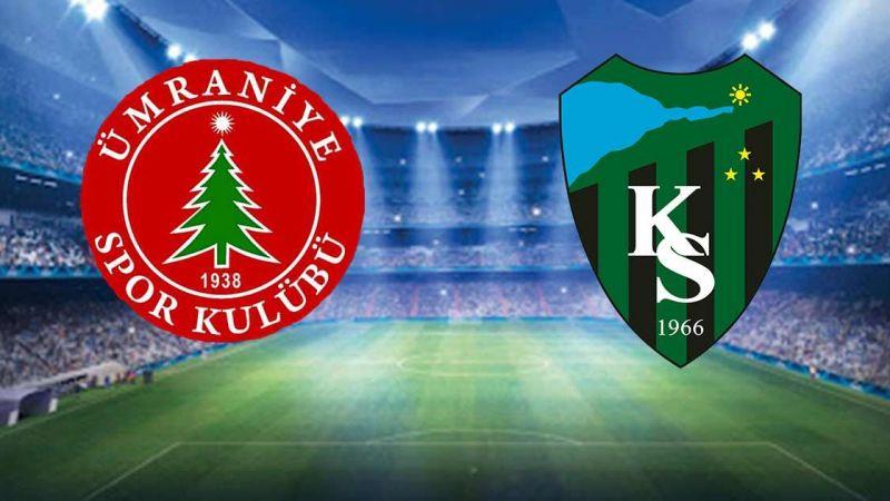 Kocaelispor - Ümraniyespor maçı