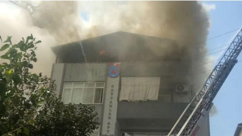 Kocaeli'de 4 katlı binada yangın