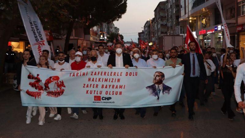 CHP Kocaeli 30 Ağustos Zafer Bayramı coşkusunu Gebze'ye taşıdı