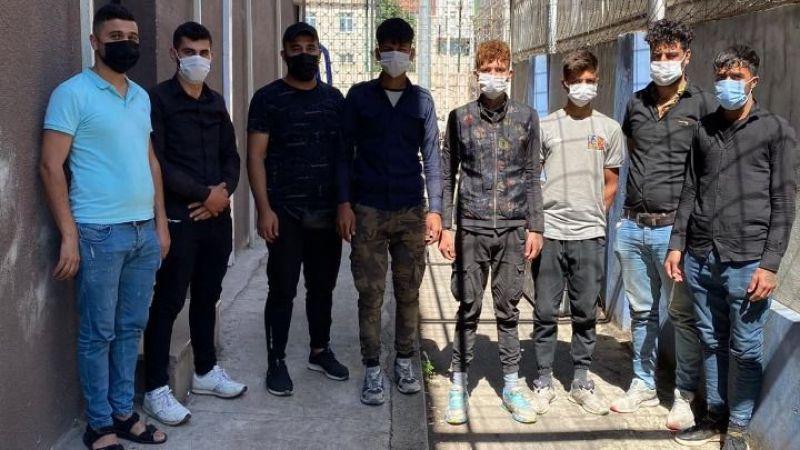 Kocaeli'de 8 kaçak göçmen yakalandı!
