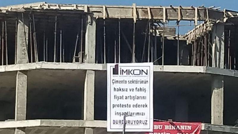 Müteahhitler inşaatları durdurmaya başladı