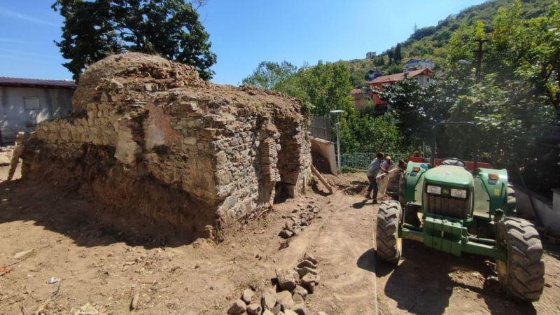 Değirmendere'deki tarihi hamamın restorasyonuna başlandı