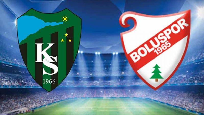 Kocaelispor - Boluspor maçında ilk yarı sona erdi