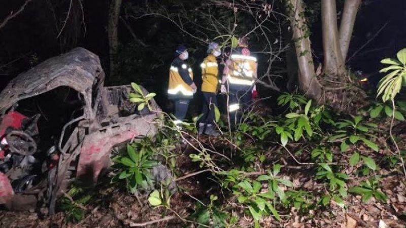 UTV ile uçuruma düşen 2 kişi hastaneye kaldırıldı